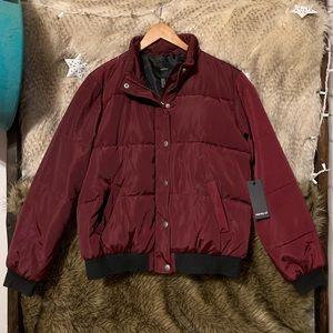 Forever 21 Jackets & Coats - Burgundy Maroon Puffer Jacket